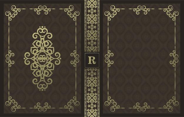 고급 장식용 책 표지 디자인