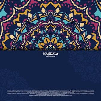 Роскошный декоративный красочный дизайн мандалы фон