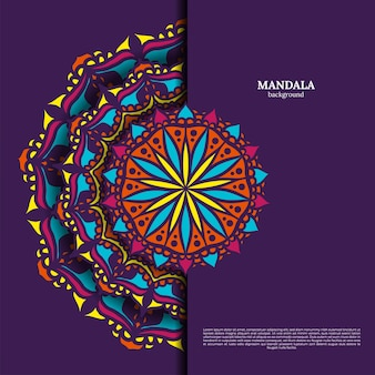Luxury ornamental colorful mandala design background