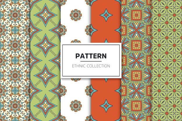 豪華な装飾用民族パターンコレクション