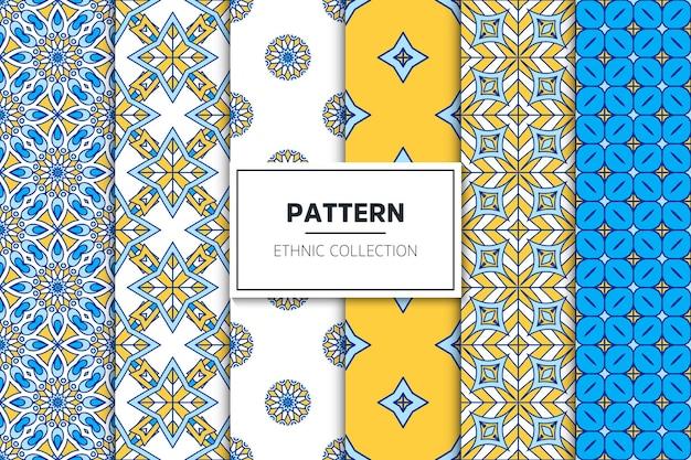 럭셔리 장식 에스닉 패턴 컬렉션
