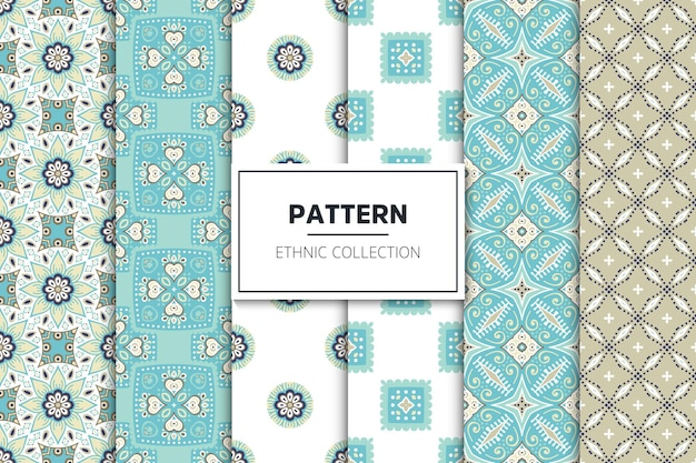 Luxury ornamental ethnic pattern collection