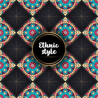 Luxury ornamental ethnic pattern