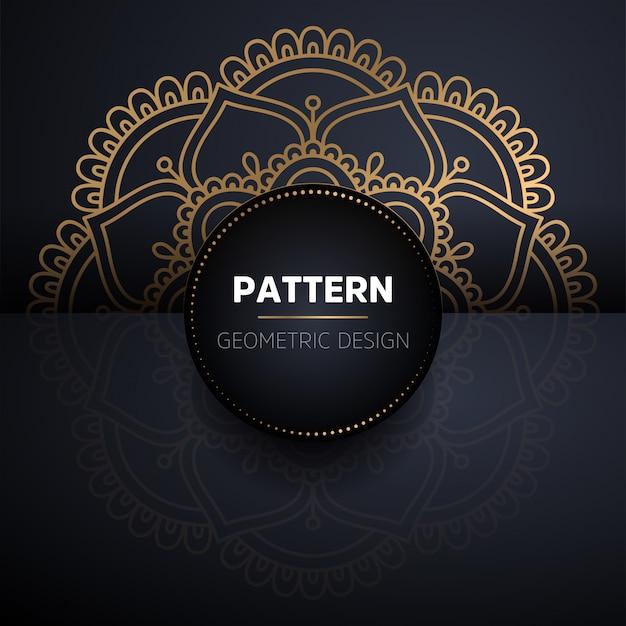 Luxury ornamental gold mandala seamless pattern