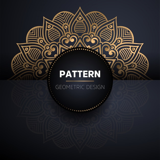 Luxury ornamental gold mandala seamless pattern