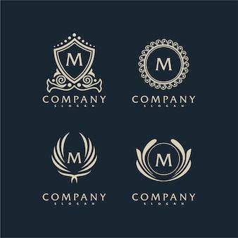 Роскошный декоративный логотип
