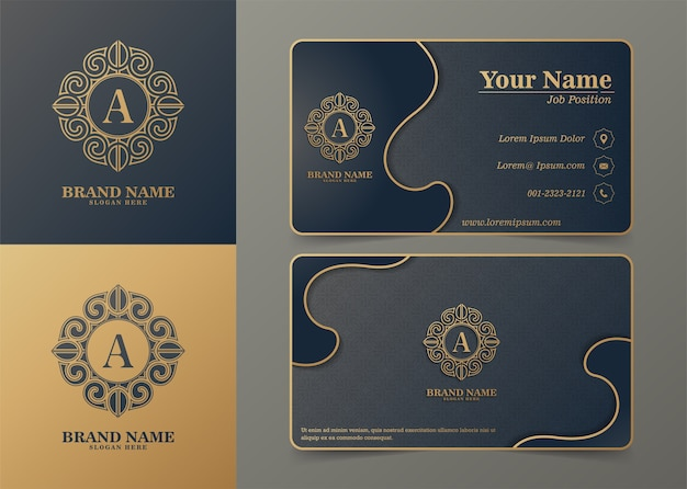 Luxury ornamental logos and business cards template
