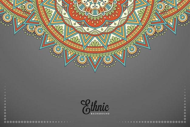 Luxury ornamental mandala background in gold color vector