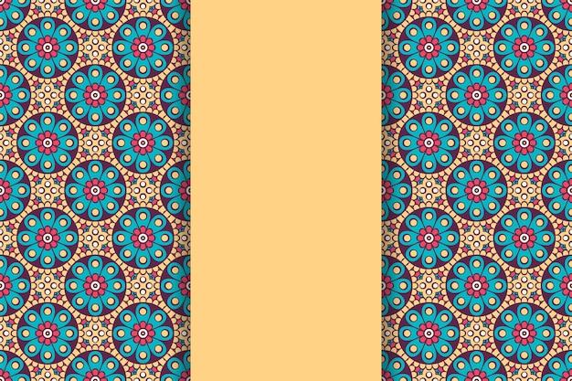 Sfondo mandala ornamentale di lusso in colore oro