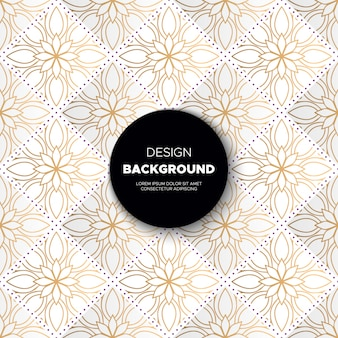 Luxury ornamental mandala  background in gold color