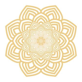 Luxury ornamental mandala background in gold color