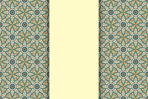 ゴールドカラーの豪華な装飾用曼荼羅の背景