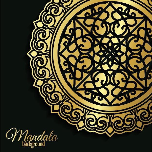 아랍어 이슬람 동쪽 패턴 스타일 프리미엄이 있는 고급 장식용 만다라 배경