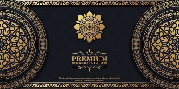 Luxury ornamental mandala background with arabic islamic east pattern style premium