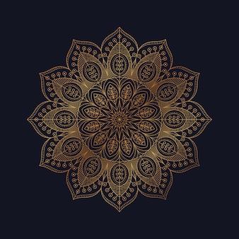 Роскошный орнаментальный дизайн мандалы арабский исламский восточный стиль