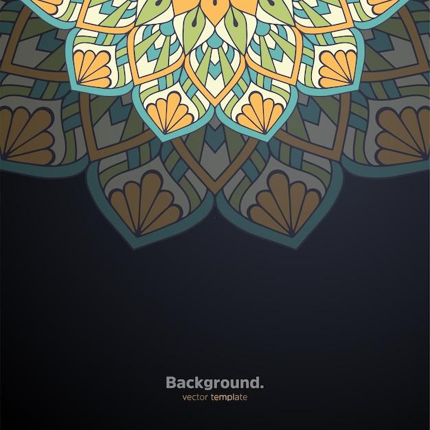 Роскошный декоративный дизайн мандалы фон красочный