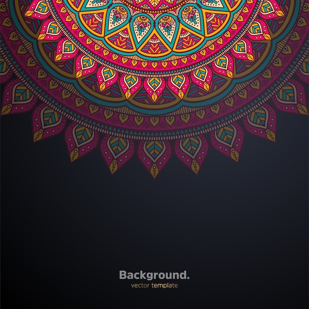 Luxury ornamental mandala design background colorful