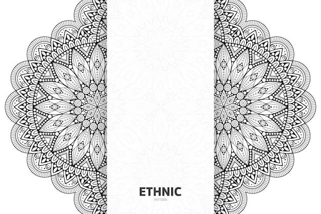 Luxury ornamental mandala design background in gold color vector