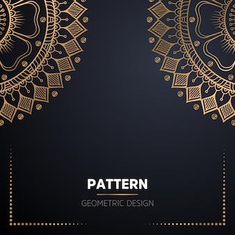 Mandala ornamentale di lusso design sfondo in colore oro Vettore gratuito
