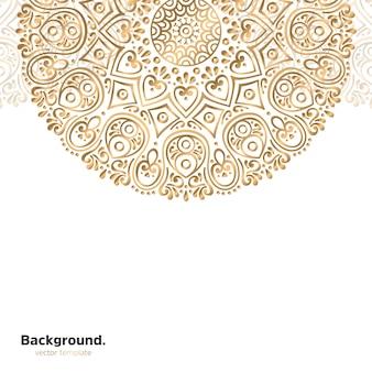 Sfondo di design mandala ornamentale di lusso in colore oro