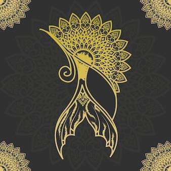 아랍 이슬람 스타일 라마단 스타일 장식 만다라의 고급 장식용 만다라 디자인 배경