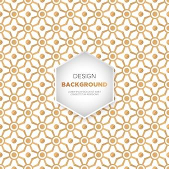 Luxury ornamental mandala design background in gold color