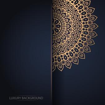 ゴールドカラーの高級観賞用マンダラデザインの背景