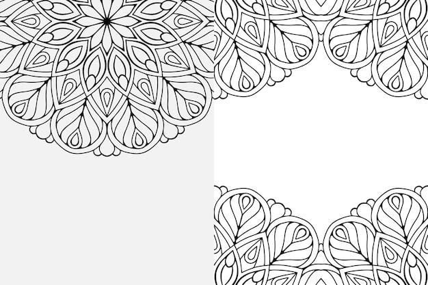 골드 컬러의 럭셔리 장식 만다라 디자인 배경