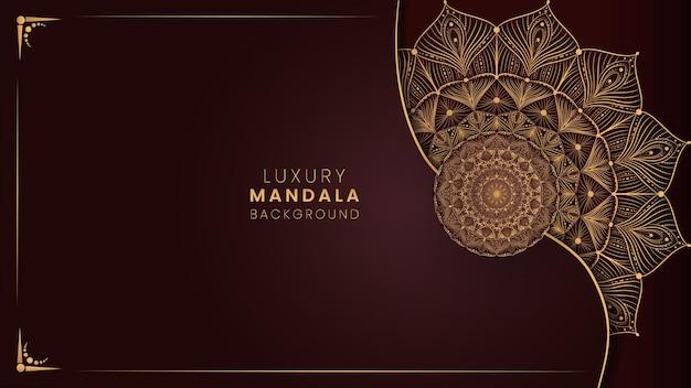 豪華な装飾的な曼荼羅デザインの背景ベクトル