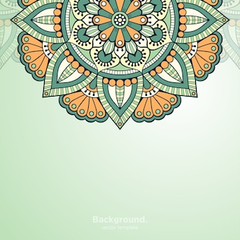 Роскошный декоративный фон дизайна мандалы