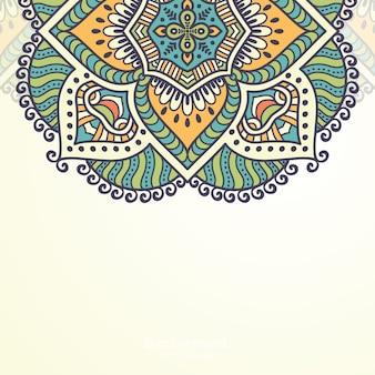 豪華な装飾用曼荼羅デザインの背景