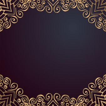 Luxury ornamental mandala design background