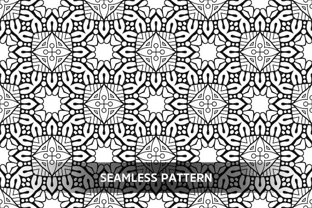 豪華な装飾用曼荼羅デザインイラスト