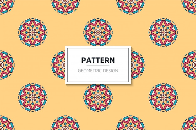 Luxury ornamental mandala design seamless pattern in gold color vector
