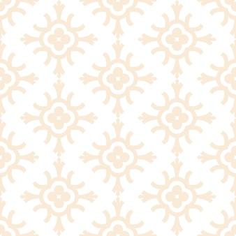 Luxury ornamental mandala design seamless pattern in gold color