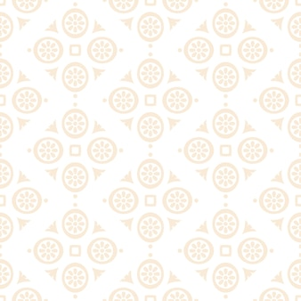 Luxury ornamental mandala design seamless pattern in gold color
