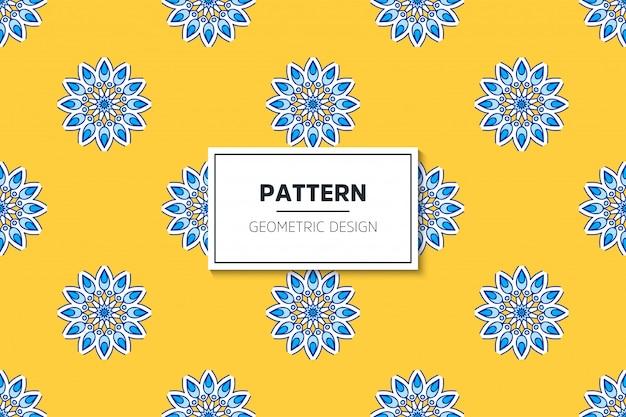 골드 컬러 벡터에서 럭셔리 장식 만다라 디자인 완벽 한 패턴