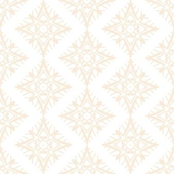 ゴールドカラーの豪華な装飾用曼荼羅デザインのシームレスパターン
