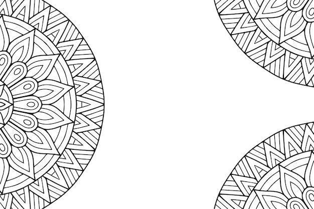 Роскошный орнаментальный дизайн мандалы.