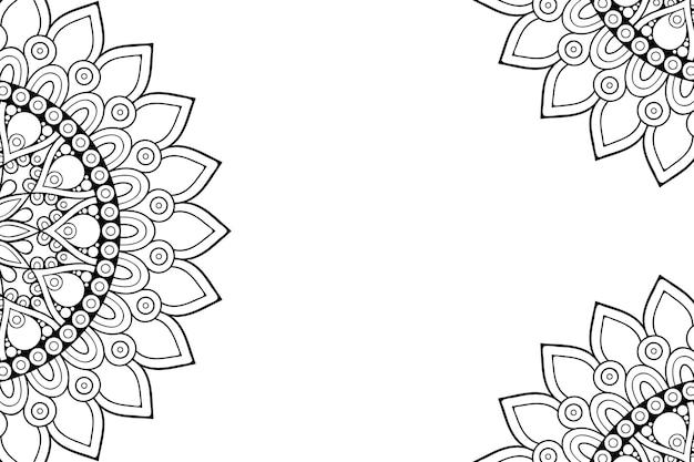 Роскошный орнаментальный дизайн мандалы. Premium векторы