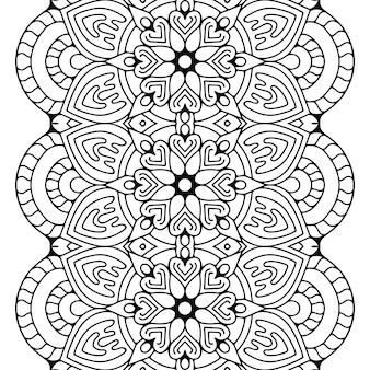 Luxury ornamental mandala design