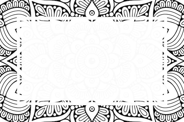 Luxury ornamental mandala frame background