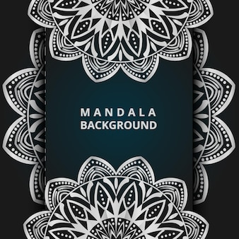 Luxury ornamental mandala illustration background in silver color mandala background vector mandala