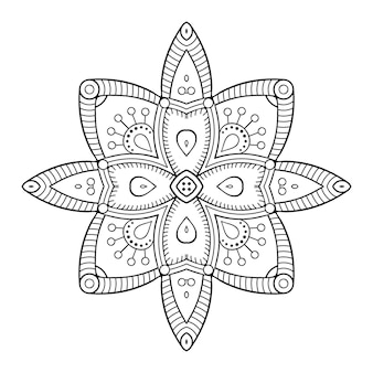 豪華な装飾用曼荼羅イラスト