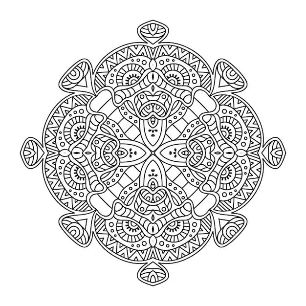 Luxury ornamental mandala illustration