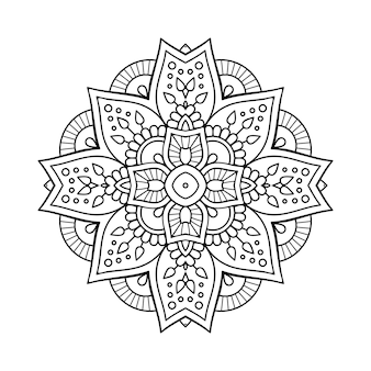 Luxury ornamental mandala illustration