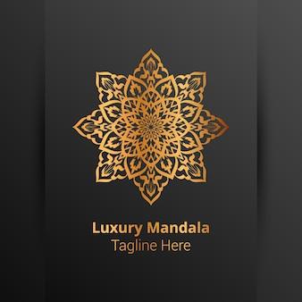 Роскошный орнаментальный логотип мандалы, стиль арабески.