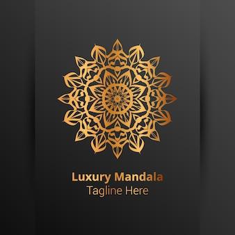 Роскошный декоративный логотип мандалы в стиле арабески