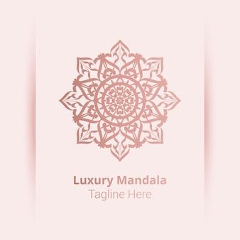 アラベスクスタイルの豪華な装飾用曼荼羅のロゴ