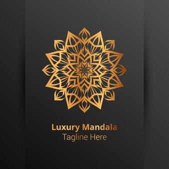 Роскошный декоративный шаблон логотипа мандалы